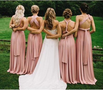 Günstige Brautjungfernkleider Lang Rosa   Kleider Brautjungfern_2