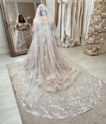 Beautiful plus size wedding dresses | Wedding dresses with lace sleeves_2
