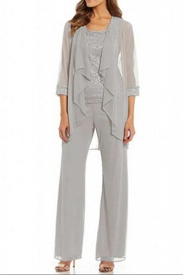 Silver Mother of the Bride Pants With Jacket | Mother of the Bride Dresses Cheap Online