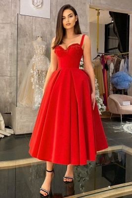 Cocktail dresses short red | Prom dresses cheap_3