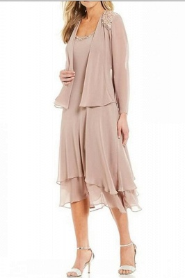 Chiffon Mother of the Bride Dresses 3 Pieces | Mother of the Bride Dress With Jacket