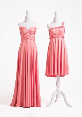 Pink Convertible Bridesmaid Dresses | Short bridesmaid dress cheap_2