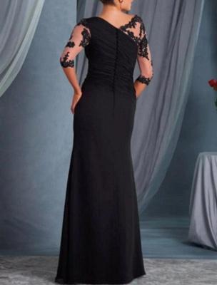 Schwarze Brautmutterkleider Mit Ärmel | Kleider für Brautmutter Günstig_2