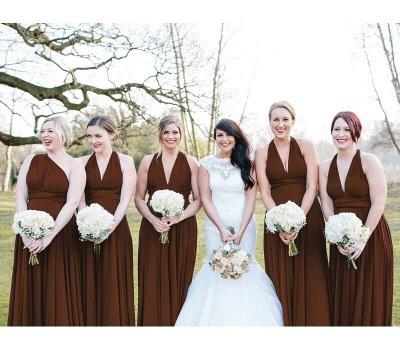Weinrot Brautjungfernkleider Günstig | Wandelbare Kleider Für Brautjungfern