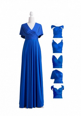 Wandelbare Brautjungfernkleider Blau | Brautjungfernkleid Lang Günstig_6