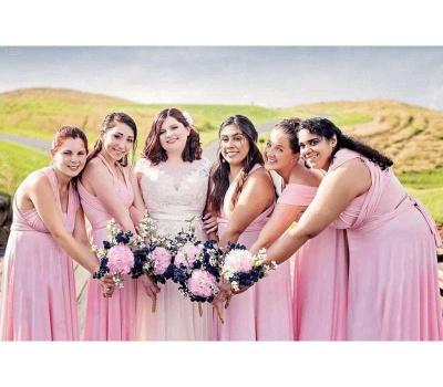 Brautjungfernkleider Altrosa Lang | Kleider für Brautjungfern