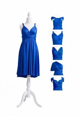 Wandelbare Brautjungfernkleider Blau | Brautjungfernkleid Lang Günstig_7
