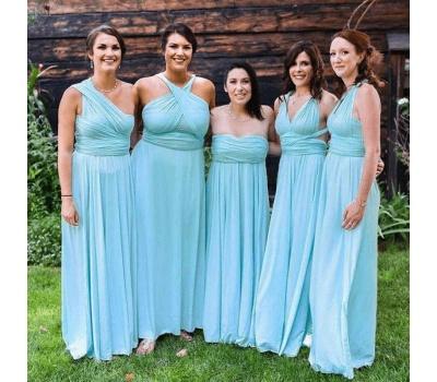 Lange Brautjungfernkleider Mintgrün | Kleider für Brautjungfern_2