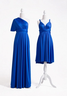 Wandelbare Brautjungfernkleider Blau | Brautjungfernkleid Lang Günstig_5