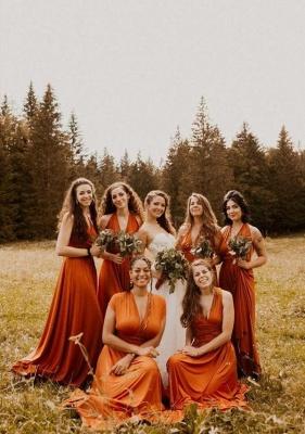 Elegante Wandelbare Brautjungfernkleider Lang Günstig Online
