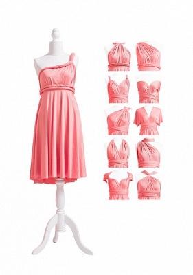 Pink Convertible Bridesmaid Dresses | Short bridesmaid dress cheap_5