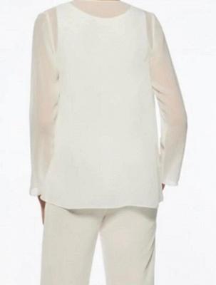 Weiße Brautmutterkleider mit Jacket | 2 Teilige Kleider Für Brautmutter_2