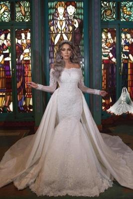 Brautkleider Meerjungfrau Mit Ärmel | Glitzer Hochzeitskleider mit Spitze
