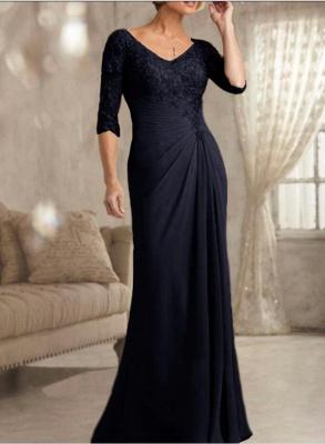 Champagne Brautmutterkleider Mit Ärmel | Kleider für Brautmutter_4