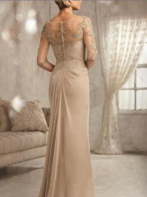 Champagne Brautmutterkleider Mit Ärmel | Kleider für Brautmutter_2