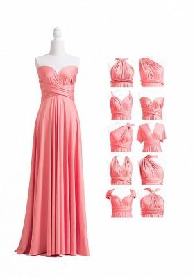Pink Convertible Bridesmaid Dresses | Short bridesmaid dress cheap_4
