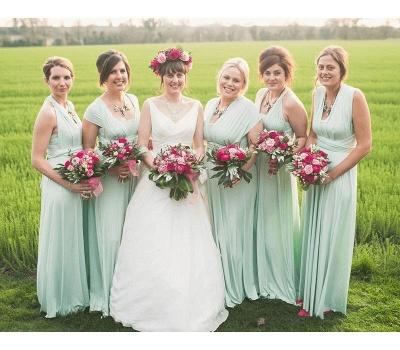 Günstige Brautjungfernkleider Mintgrün   Kleider für Brautjungfern_3
