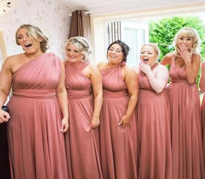 Günstige Brautjungfernkleider Lang Rosa   Kleider Brautjungfern_3