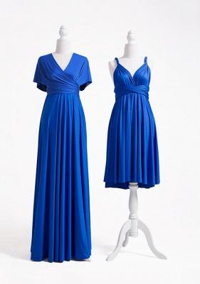 Wandelbare Brautjungfernkleider Blau | Brautjungfernkleid Lang Günstig_3