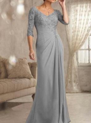 Champagne Brautmutterkleider Mit Ärmel | Kleider für Brautmutter_5