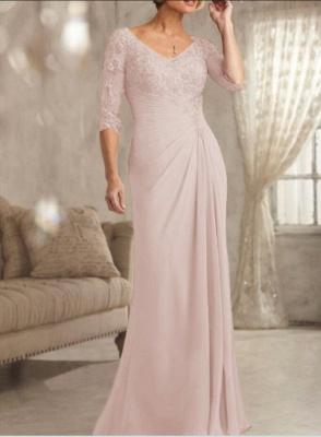 Champagne Brautmutterkleider Mit Ärmel | Kleider für Brautmutter_3