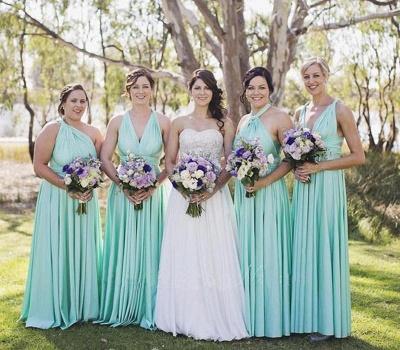Lange Brautjungfernkleider Mintgrün | Kleider für Brautjungfern_3