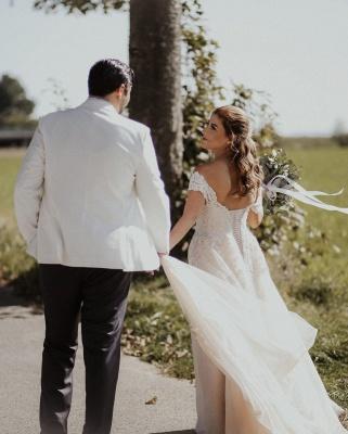 Boho Wedding Dresses A Line | Wedding dresses with lace_4