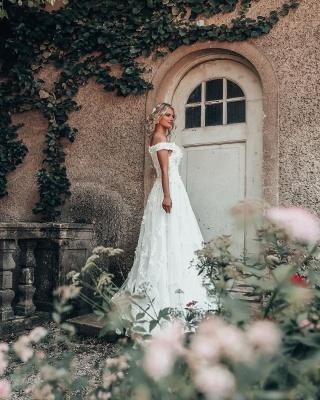 Designer Hochzeitskleider A Linie Spitze | Brautmoden Online_3