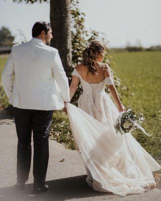 Boho Wedding Dresses A Line | Wedding dresses with lace_3
