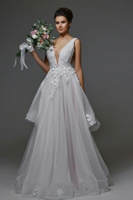 Schöne Brautkleider A Linie | Hochzeitskleider V Ausschnitt