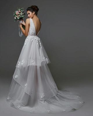 Schöne Brautkleider A Linie | Hochzeitskleider V Ausschnitt_2