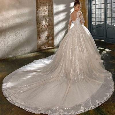 Elegante Brautkleider Mit Glitzer | Hochzeitskleider A Linie Mit Ärmel_3