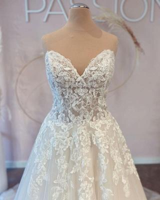 Schöne Brautkleider A linie Spitze   Hochzeitskleider Günstig Online_4