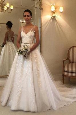 Elegante Brautkleider mit Spitze | Hochzeitskleider A Linie Günstig