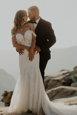 Designer Hochzeitskleider Meerjungfrau | Brautkleider mit Spitze