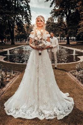 Designer Hochzeitskleider A Linie Spitze | Brautmoden Online_1