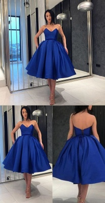 Designer Blaue Cocktailkleider Kurz Mini Abendkleider Günstig Online_5