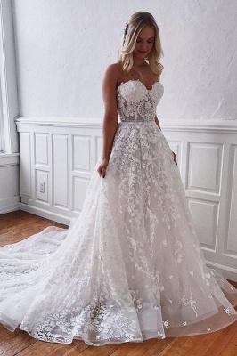 Wunderschöne Brautkleider Spitze | Weiße Hochzeitskleider A Linie