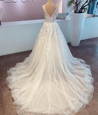 Günstige Hochzeitskleider mit Spitze | Brautkleider A Linie_2