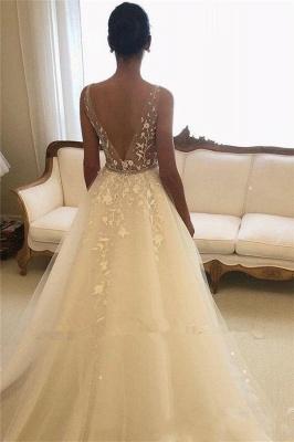 Elegant wedding dresses with lace | Wedding dresses A line cheap_3