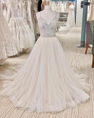 Schöne Brautkleider A Linie   Hochzeitskleider Glitzer_2