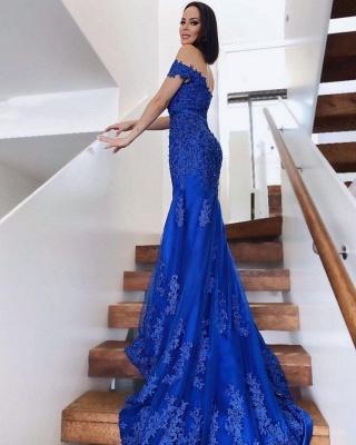 König Blaue Abendkleider Lang   Abiballkleider Spitze_2