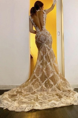 New wedding dresses long sleeves | Wedding dresses mermaid lace_2
