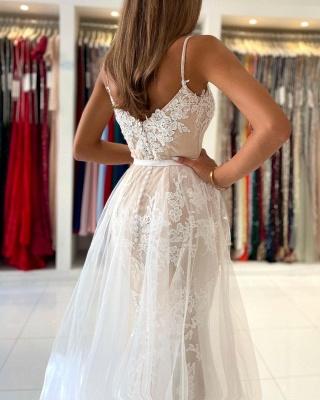 Beautiful prom dresses long white   Evening dresses lace cheap_6