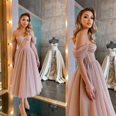 Beautiful cocktail dresses short | Evening dresses with glitter_5