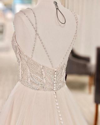 Schöne Brautkleider A Linie   Hochzeitskleider Glitzer_3