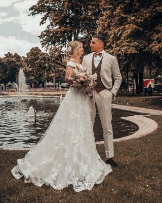 Designer Hochzeitskleider A Linie Spitze | Brautmoden Online_4