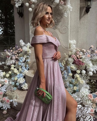 Evening dresses long pink   Prom dresses with glitter_2
