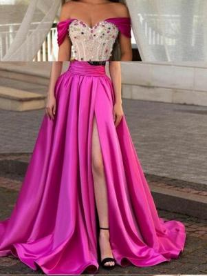 Luxus Abendkleider Weinrot | Abiballkleider Lang Günstig_3
