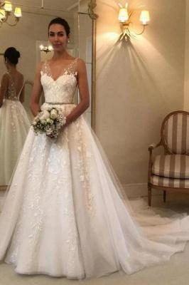 Elegant wedding dresses with lace | Wedding dresses A line cheap_2